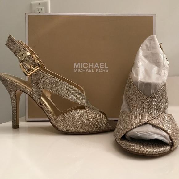 Michael Kors Gold Sparkle Heels